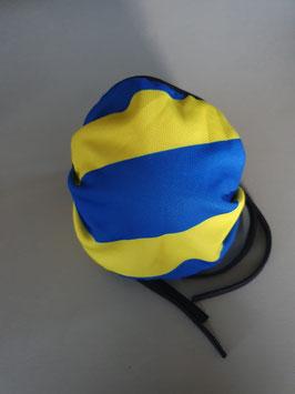Blau Gelb Gestreift Maske