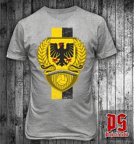 Dortmund Stadtwappen Lorbeerkranz Streifen Hochkant Shirt
