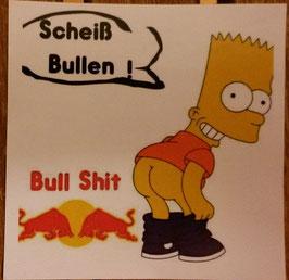 150 Bull Shit Bart Aufkleber