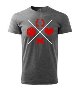 München Kreuz Dunkelgrau Shirt