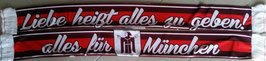 München Liebe alles geben Seidenschal