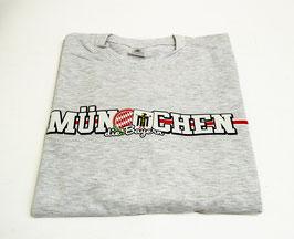 München länglich Shirt Grau