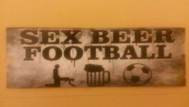 Sex Beer Football Aufkleber