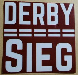 150 Derbysieg Rot Aufkleber