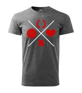 Köln Kreuz Shirt Dunkelgrau