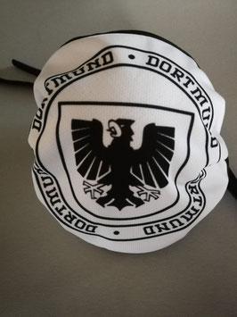 Dortmund Stadtwappen Kreis Schwarz Weiss Maske