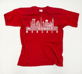 München Helden Skyline Shirt Rot