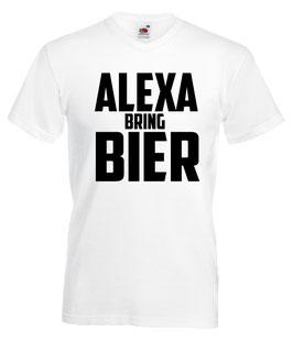 Alexa bring Bier Shirt weiss