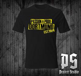 Dortmund Passion +Pride Schriftzug Shirt