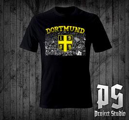 Dortmund Kurvenbild +1909 Logo Shirt