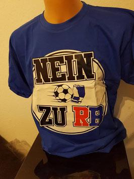 Nein zu RB Shirt Blau