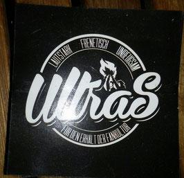 150 Ultras Aufkleber schwarz