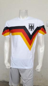 Deutschland Retro Shirt Flagge weiss