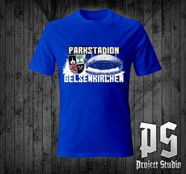 Gelsenkirchen Parkstadion +Wappen Blau Shirt