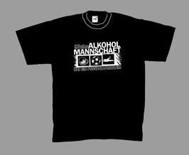 Meine Alkoholmannschaft hat ein Fussballproblem Stadion Ultras Shirt Schwarz