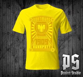 Dortmund 1909 Ruhrpott Stadtadler Shirt Gelb