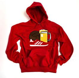 München Ball Bier Schuhe Hoodie Rot