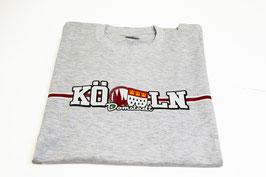Köln länglich Shirt Grau