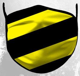 Schwarz Gelb Gestreift Maske