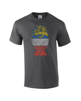 Rostock Fingerprint Shirt Dunkelgrau