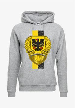 Dortmund Stadtwappen Lorbeerkranz Streifen Hochkant Hoodie