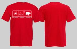 ACAB Bullenschweine Rot Shirt