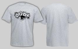 1312 Würfel Shirt Grau