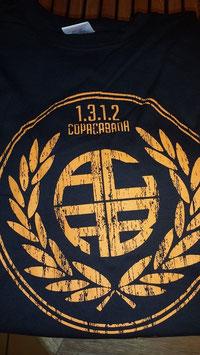 ACAB Shirt Oranger Aufdruck Schwarz