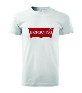 Bierschiss Shirt weiss