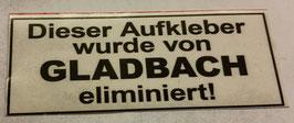 150 Gladbach eliminiert Aufkleber