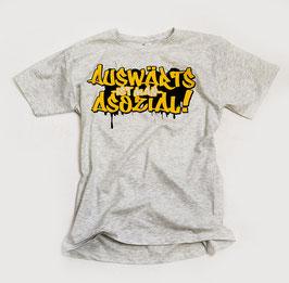 Auswärts ist man asozial Shirt Gelb