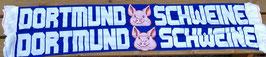 Dortmund Schweine Seidenschal Blau