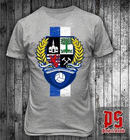 Gelsenkirchen Stadtwappen Lorbeerkranz Streifen Hochkant Shirt