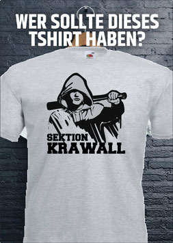 Sektion Krawall Shirt Grau
