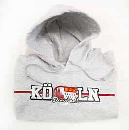 Köln länglich Hoodie Grau