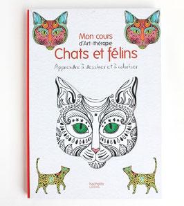 フランス アシェット社の塗り絵本《ねこ》  Mon cours d'Art therapie Chats et felins