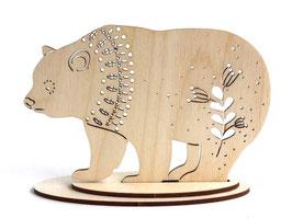 木製 アニマルオーナメント 《くま》