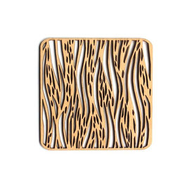 木製コースター スクエア《刷毛目》