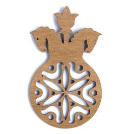 Etno Design(エトノデザイン) 木製オーナメント マグネット《雪の結晶と馬》