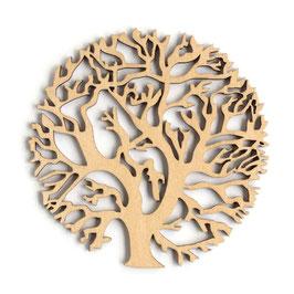 木製コースター ラウンド《枝珊瑚》