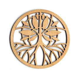 木製コースター ラウンド《シンボルツリー》
