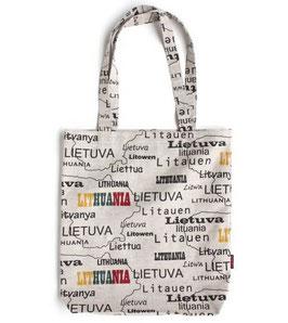 リトアニア製 リネンキャンバストートバッグ 《ロゴタイプ》
