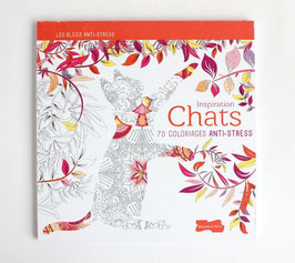 フランスの塗り絵本《ねこ》  inspiration Chats 70 COLORIAGES ANTI-STRESS