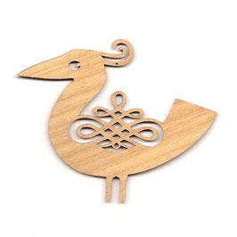 木製オーナメント《鳥A》