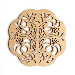 木製コースター ラウンド《シルクジャスミン》
