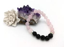 Bracelet Aromathérapie Quartz Rose