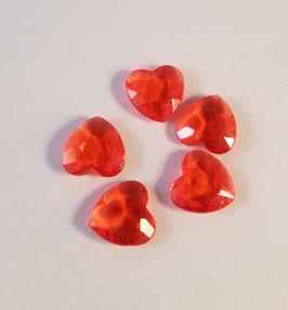 Rote Herzen für Medaillons