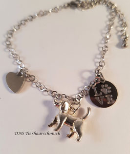 Armband mit Hundeanhänger
