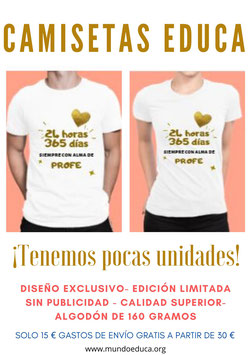 Camiseta algodón Diseño Exclusivo EDUCA