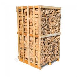 Buchenbrennholz in Einwegbox, 3 srm, 25cm Scheitlänge